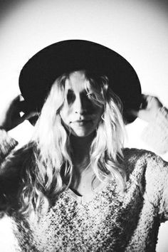 Shaggy Knit Pullover with my wide brim <3 true lov on Free People