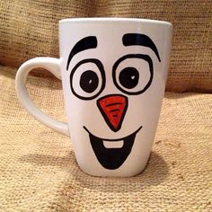 I love all things warm quote Disney Olaf Frozen costume inspired character coffee mug on Etsy, $8.00