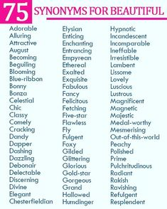 "English words that mean (and are synonyms of) ""beautiful"". Expand your vocabulary depth by using these more expressive & specific vocabulary words especially useful for who interpret English along with their second language. English Writing Skills, Book Writing Tips, Writing Words, English Lessons, Writing Prompts, Synonyms For Writing, Writer Tips, Writing Quotes, English Vocabulary Words"