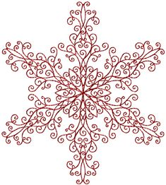Snowflake Redwork 3