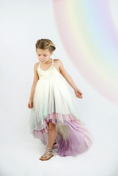 This listing is for one custom made unicorn dress. Create the dress of your dreams by choosing skirt colors, bodice material, size and fit. Each dress in the