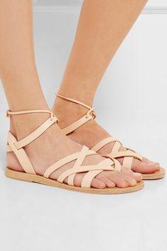 Valia Gabriel | Pink Gin leather sandals | NET-A-PORTER.COM