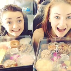 Sophie Turner and Maisie Williams