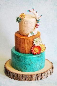SOUTHWESTERN WEDDING CAKE.