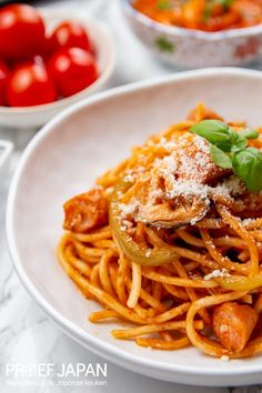 Japanse ketchup spaghetti (Spaghetti Napolitan)   Proef Japan Ketchup, Pasta Dishes, Food Japan, Spaghetti, Diners, Ethnic Recipes, Restaurants, Food Dinners, Noodle
