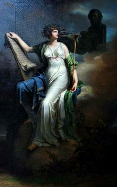 Charles Meynier - Calliope, muse of poetry. Tags: calliope, kalliope, muses,