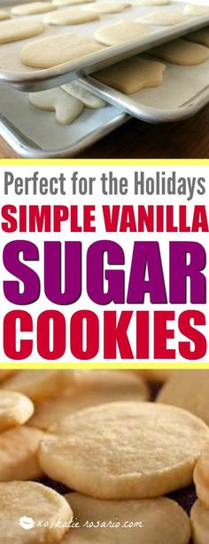 How to Make the Perfect Simple Vanilla Bean Sugar Cookies the best foolproof christmas cookies and easy enough for kids