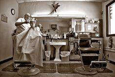 vintage barbershop by Studiobaker, via Flickr