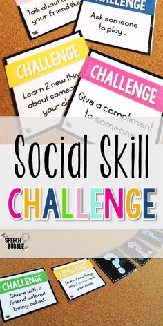 The Social Skills Challenge: Enforcing Target Skills in Speech | The Speech Bubble SLP Social Skills Lessons, Social Skills Activities, Teaching Social Skills, Social Games, Social Emotional Learning, Speech Therapy Activities, Life Skills, Social Skills For Kids, Children Activities