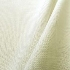 Tissu de coton Nid d'abeille 2mm Ecru - 100% coton 230g/m²      7.90 le m