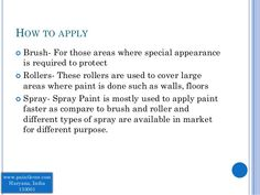 How to Apply- Resistant Paints