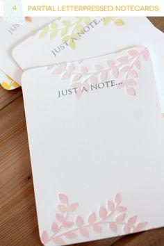 Partial Letterpress Notecards Set Header with Fiskars Fuse