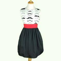Moustache Dress!! Want!!