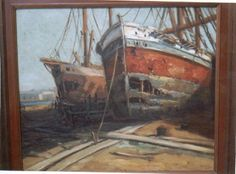 Barcas  Arturo Pacheco Altamirano Painting, Paintings, Artists, Art, Country, Painting Art, Paint, Draw