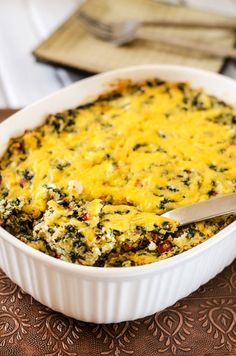 Spinach & Roasted Red Pepper Quinoa Casserole recipe
