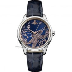 Vivienne Westwood Fitzrovia Ladies Quartz Watch with Navy Dial & Navy Leather StrapDimensions (Case Width): SteelComposition: LeatherColour: Navy Vivienne Westwood Jewellery, Bleu Marine, Cool Watches, Quartz Watch, Luxury Branding, Product Launch, Lady, Leather, Accessories