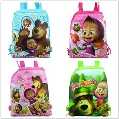 4pcs Masha&bear Party Bags Kid Drawst... for only $9.99