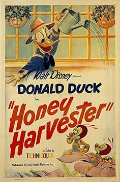Honey Harvester (1949) Donald Duck Disney cartoon movie short poster