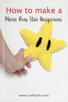 Mario Bros Star Amigurumi. For the Mario Bros fans, Nintendo lovers, gamers, nerds and geeks that love some fan items.How to make a Mario Bros Star.