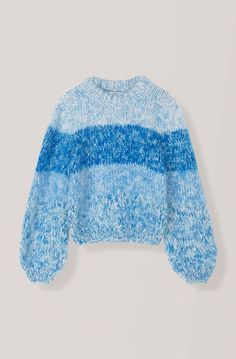 Ladies Designer Clothing, GANNI Womens Sweaters : Hand Knit Wool Sweater at Bonito Silicon Valley Best Cardigans, Knit Fashion, Wool Sweaters, Pulls, Diy Clothes, Hand Knitting, Knitted Hats, Knitwear, Knit Crochet