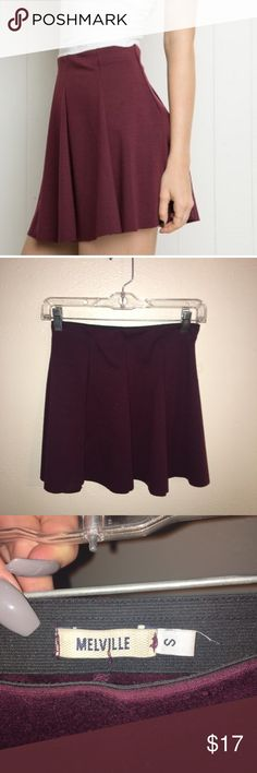 Brandy Melville skirt Dark maroon skirt, size small, good condition. Feel free to make an offer! Brandy Melville Skirts Circle & Skater