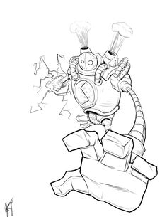 line art league of legends blitzcrank - Google Search