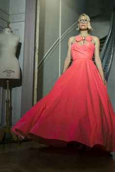 Vicky Kaya in Zoulias at the Crown The Crown, Ball Gowns, Spring Summer, Formal Dresses, Board, Artist, Collection, Design, Women