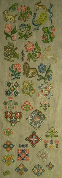 English spot sampler- mid 17th century :: The Essamplaire