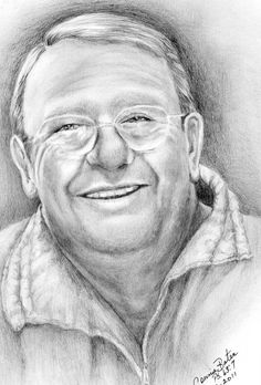 "Graphite ""Memorial Portrait"" done for a friend when she lost her wonderful husband. by connie baten"