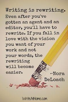 Writing is rewriting.