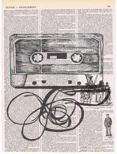 Retro.Cassette,NEW.Gift.Repurposed,Book Page Print.Home Deco,Old School,Music.Tape Deck.ghetto blaster.boom box.artist.vintage.song.DJ.art
