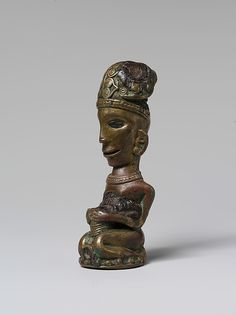 Finial from a Ritual Staff (Tungkot Malehat). Date: 19th–early 20th century. Geography: Indonesia, Sumatra. Culture: Toba Batak people. Medium: Copper alloy, resin.
