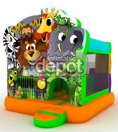 foto castillo hinchable Jungle Bouncer with Slide