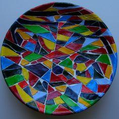 """mosaique colorée """" CATALUNYA"""" reservee ..exemplaire original unique : Mosaiques par danyrocherleroi"""