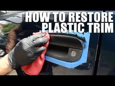 Restore and fix faded plastic trim on your car - YouTube