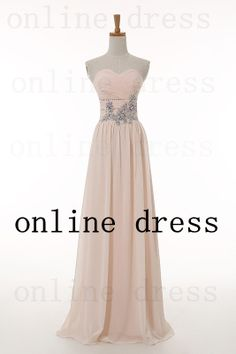Champagne Prom Dress Aline Sweetheart Sleeveless by onlineDress, $119.00