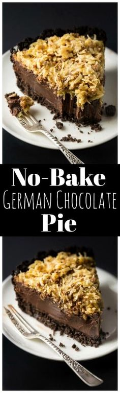 Holy YUM this No-Bake German Chocolate Pie is the ultimate Summer dessert!