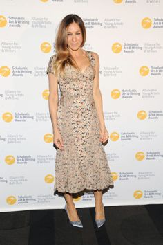 Fabulously Spotted: Sarah Jessica Parker Wearing Zac Posen - 2013 Alliance For Young Artists & Writers Benefit - http://www.becauseiamfabulous.com/2013/06/sarah-jessica-parker-wearing-zac-posen-2013-alliance-for-young-artists-writers-benefit/