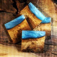 Diy Resin Art, Diy Resin Crafts, Wood Crafts, Resin And Wood Diy, Stick Crafts, Epoxy Resin Wood, Diy Epoxy, Diy Coasters, Coaster Crafts