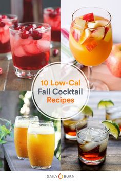 9 Autumn-Inspired Cocktail Recipes Under 200 Calories Fall Drinks Alcohol, Fall Cocktails, Classic Cocktails, Fun Drinks, Yummy Drinks, Wine Cocktails, Beverages, Halloween Cocktails, Cocktail Drinks