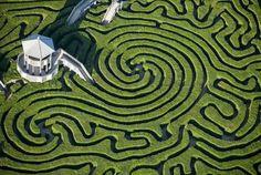 Love how this Garden Maze has a Gazebo!