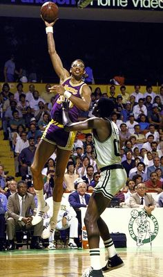This Day In Basketball History: June 9,1985 - The Los Angeles Lakers beat Boston, 111-100, in Game 6 to win the NBA Finals. Kareem Abdul-Jabbar is unanimously voted NBA Finals MVP; at 38, Abdul-Jabbar is the oldest player ever to gain that honor.