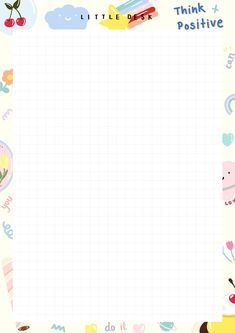 Printable Scrapbook Paper, Printable Planner Stickers, Printable Paper, Cute Notes, Good Notes, Memo Notepad, Note Doodles, Schedule Design, Notes Template
