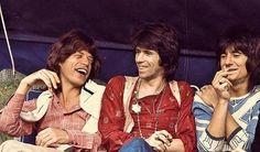 Mick Jagger, Keith Richards and Ronnie Wood, circa 1976
