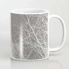Branches Impressions I Mug by ARTbyJWP from Society6 #mug #coffeemug #mugs #gray #minimalist  --   Available in 11 and 15 ounce sizes, our premium ceramic coffee mugs feature wrap-around art and large handles for easy gripping. Dishwasher and microwave safe, these cool coffee mugs will be your new favorite way to consume hot or cold beverages.