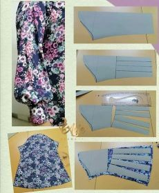 Sewing Paterns, Dress Sewing Patterns, Sewing Patterns Free, Clothing Patterns, Pattern Dress, Sewing Sleeves, Diy Fashion Hacks, Sewing School, Sleeves Designs For Dresses