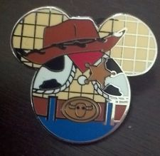 Disney pin Mickey head woody toy story icon mystery series