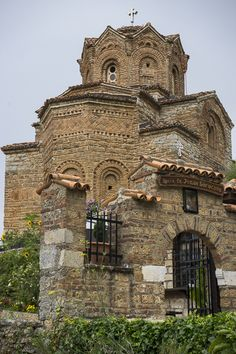 Ohrid's Byzantine Church, Sv Jovan Kaneo (Church of Saint John at Kaneo), Macedonia Macedonia Fyrom, Republic Of Macedonia, Byzantine Architecture, Church Architecture, 91 Days, Les Religions, Byzantine Art, Cathedral Church, Saint John