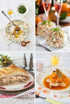 Russian Monday: Top 8 Russian Appetizers for New Year's Eve Celebration at Cooking Melangery New Years Appetizers, Appetizers For Party, Russian Recipes, Russian Foods, Russian Party, New Year's Food, Food Food, Eastern European Recipes, New Year's Eve Celebrations