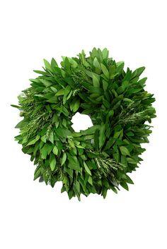 DIY inspiration-bambeco Bay Leaf Rosemary Wreath